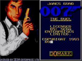 Title screen of 007: The Duel on the Sega Master System.