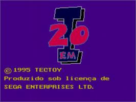 Title screen of 20 em 1 on the Sega Master System.