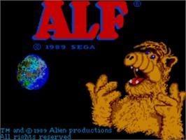 Title screen of ALF on the Sega Master System.