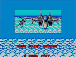 Title screen of After Burner on the Sega Master System.