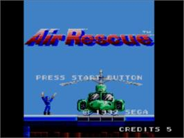 Title screen of Air Rescue on the Sega Master System.
