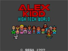 Title screen of Alex Kidd: High-Tech World on the Sega Master System.