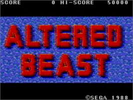 Title screen of Altered Beast on the Sega Master System.