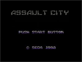 Title screen of Assault City on the Sega Master System.