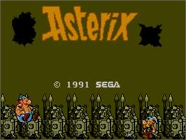 Title screen of Asterix on the Sega Master System.