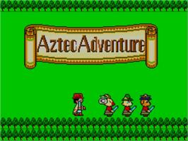 Title screen of Aztec Adventure: The Golden Road to Paradise on the Sega Master System.
