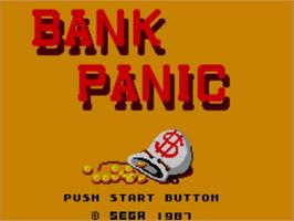 Title screen of Bank Panic on the Sega Master System.