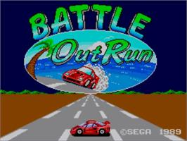 Title screen of Battle Out Run on the Sega Master System.