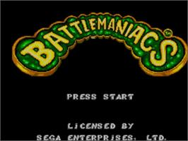 Title screen of Battle Toads in Battlemaniacs on the Sega Master System.