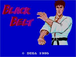 Title screen of Black Belt on the Sega Master System.