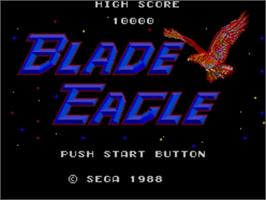 Title screen of Blade Eagle 3D on the Sega Master System.
