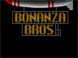 Title screen of Bonanza Bros. on the Sega Master System.