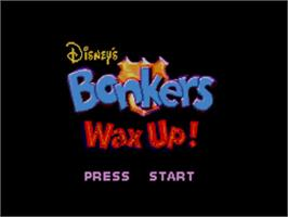 Title screen of Bonkers: Wax Up on the Sega Master System.