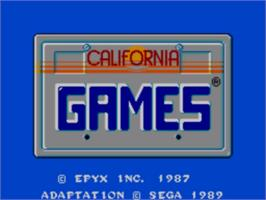 Title screen of California Games on the Sega Master System.