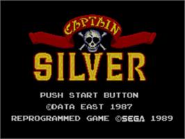 Title screen of Captain Silver on the Sega Master System.