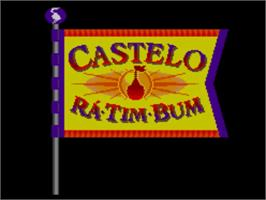 Title screen of Castelo Rá-Tim-Bum on the Sega Master System.