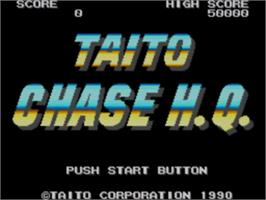 Title screen of Chase H.Q. on the Sega Master System.