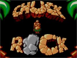 Title screen of Chuck Rock on the Sega Master System.