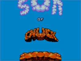 Title screen of Chuck Rock 2: Son of Chuck on the Sega Master System.