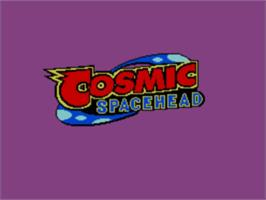 Title screen of Cosmic Spacehead on the Sega Master System.