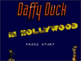Title screen of Daffy Duck in Hollywood on the Sega Master System.