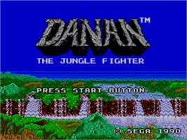 Title screen of Danan the Jungle Fighter on the Sega Master System.