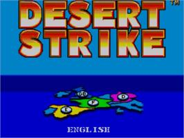 Title screen of Desert Strike: Return to the Gulf on the Sega Master System.