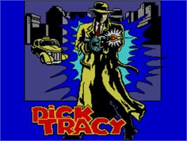 Title screen of Dick Tracy on the Sega Master System.