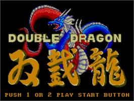 Title screen of Double Dragon on the Sega Master System.