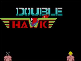 Title screen of Double Hawk on the Sega Master System.