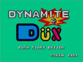 Title screen of Dynamite Dux on the Sega Master System.