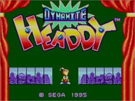 Title screen of Dynamite Headdy on the Sega Master System.