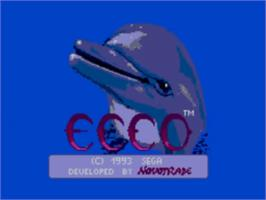 Title screen of Ecco the Dolphin on the Sega Master System.