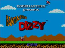 Title screen of Fantastic Adventures of Dizzy on the Sega Master System.