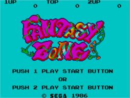 Title screen of Fantasy Zone on the Sega Master System.