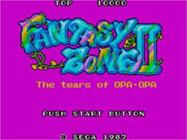 Title screen of Fantasy Zone 2 on the Sega Master System.