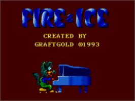 Title screen of Fire and Ice on the Sega Master System.