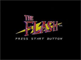 Title screen of Flash, The on the Sega Master System.