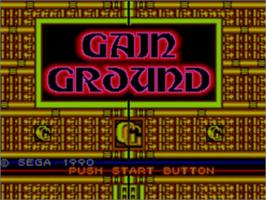 Title screen of Gain Ground on the Sega Master System.