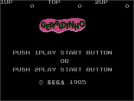 Title screen of Geraldinho on the Sega Master System.