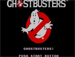 Title screen of Ghostbusters on the Sega Master System.