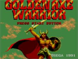 Title screen of Golden Axe Warrior on the Sega Master System.