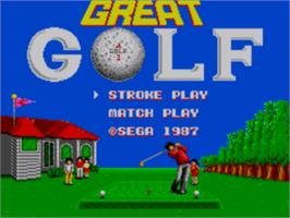 Title screen of Great Golf on the Sega Master System.