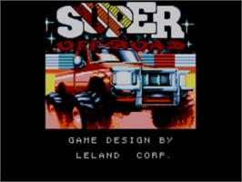 Title screen of Ironman Ivan Stewart's Super Off-Road on the Sega Master System.