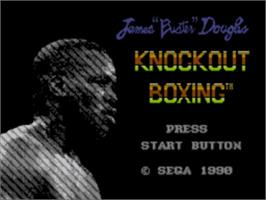 Title screen of James 'Buster' Douglas Knockout Boxing on the Sega Master System.