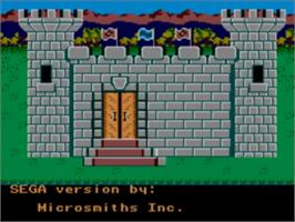 Title screen of King's Quest on the Sega Master System.