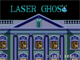 Title screen of Laser Ghost on the Sega Master System.