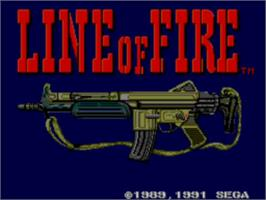 Title screen of Line of Fire / Bakudan Yarou on the Sega Master System.