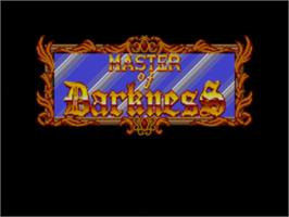 Title screen of Master of Darkness on the Sega Master System.