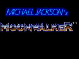 Title screen of Michael Jackson's Moonwalker on the Sega Master System.
